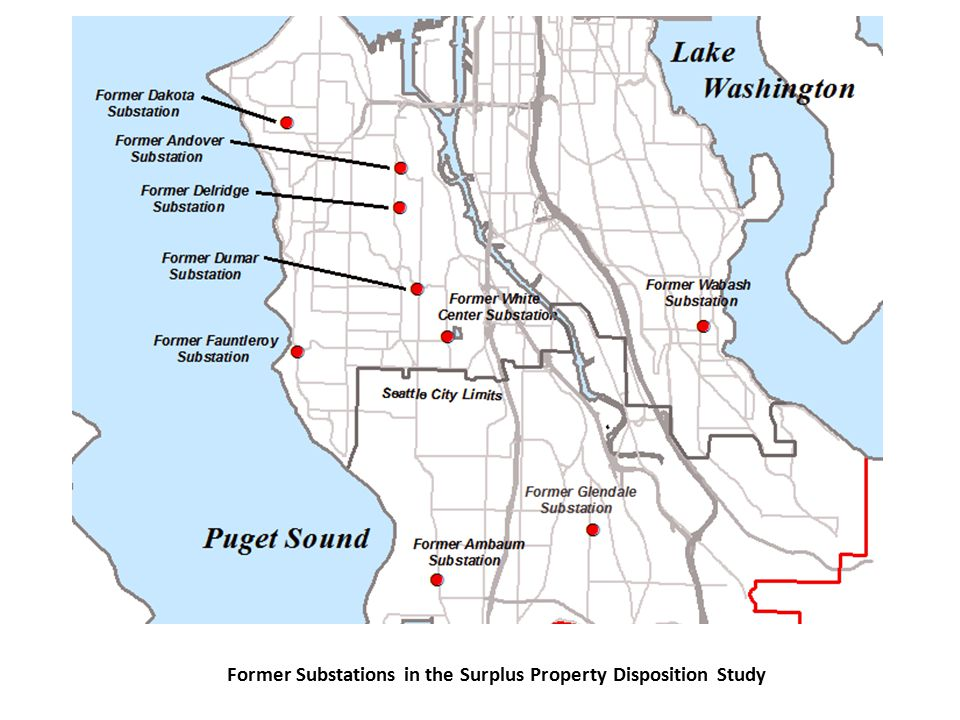 Former Substations in the Surplus Property Disposition Study