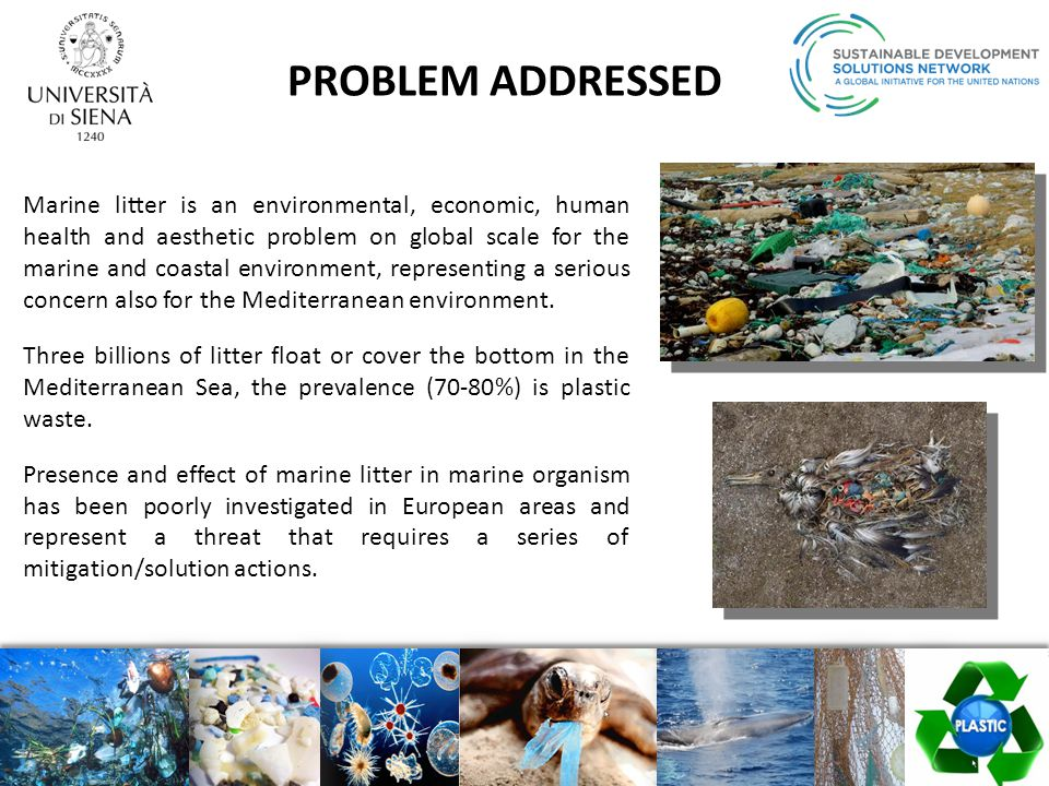 The CLEANUP-MED project is strongly linked to Descriptor 10 of the EU Marine Strategy Framework Directive: monitoring and reducing the presence and impact of marine litter in the marine environment to reach the Good Environmental Status by 2020.