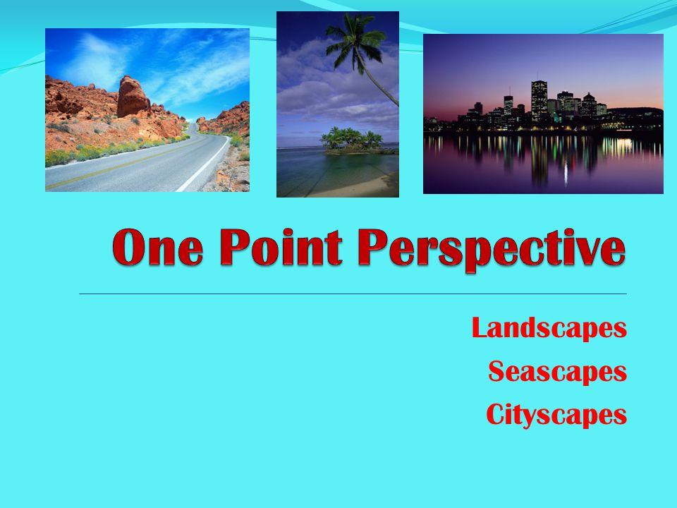 All landscapes, seascapes & cityscapes have a HORIZON Line.