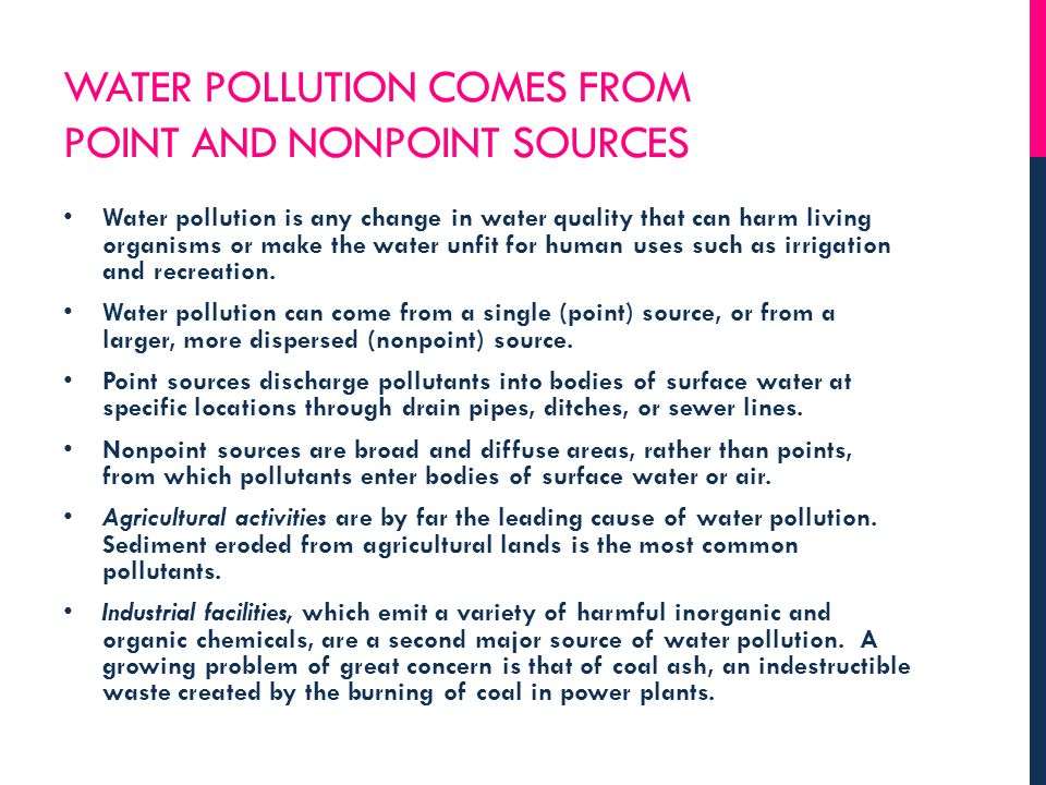 SELECTION 20-4 WHAT ARE THE MAJOR WATER POLLUTION PROBLEMS AFFECTING OCEANS?