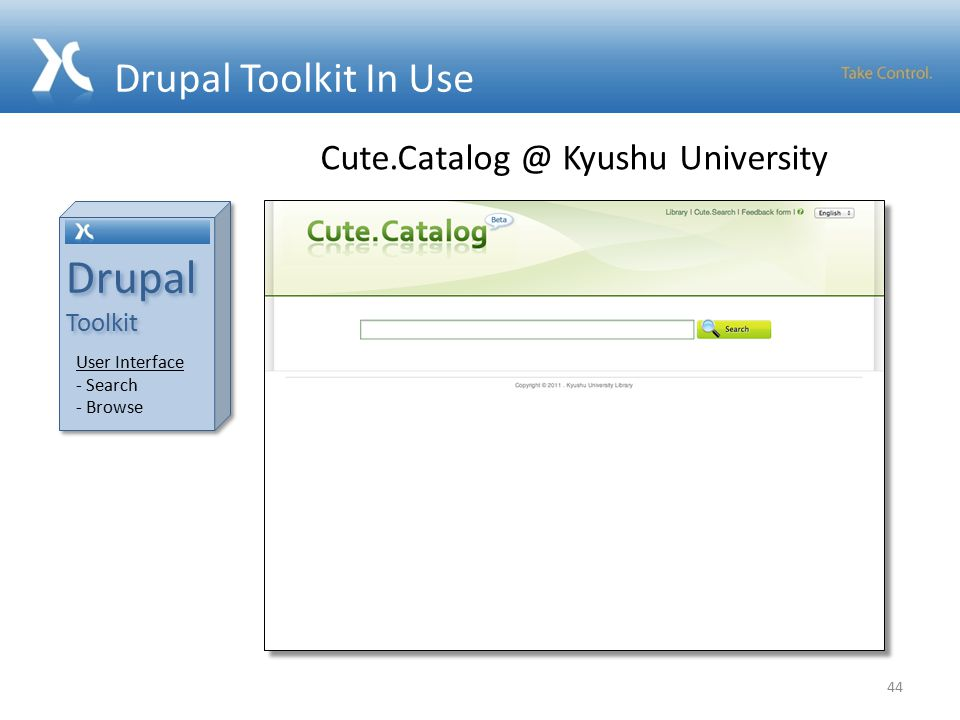 Drupal Toolkit In Use 44 Drupal Toolkit Drupal Toolkit User Interface - Search - Browse Kyushu University