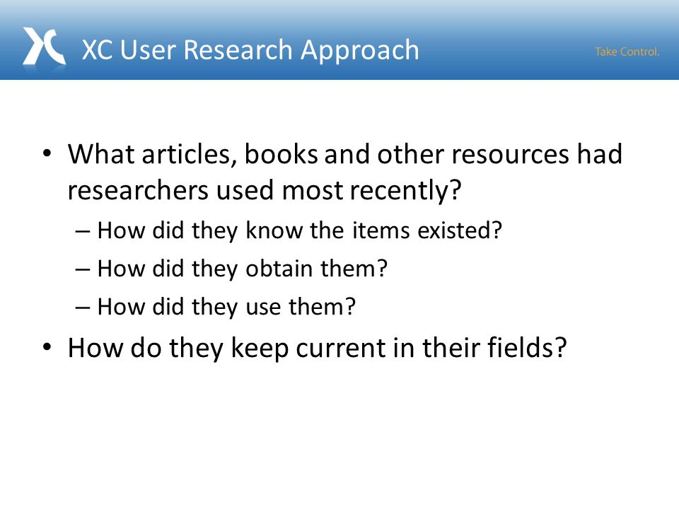 What articles, books and other resources had researchers used most recently.