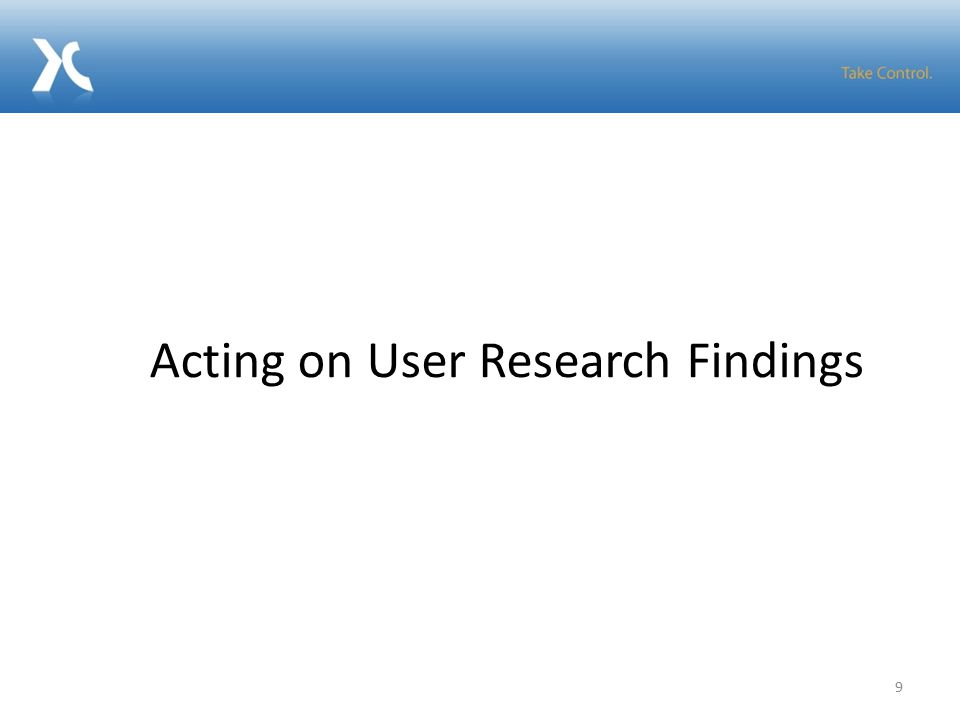 9 Acting on User Research Findings
