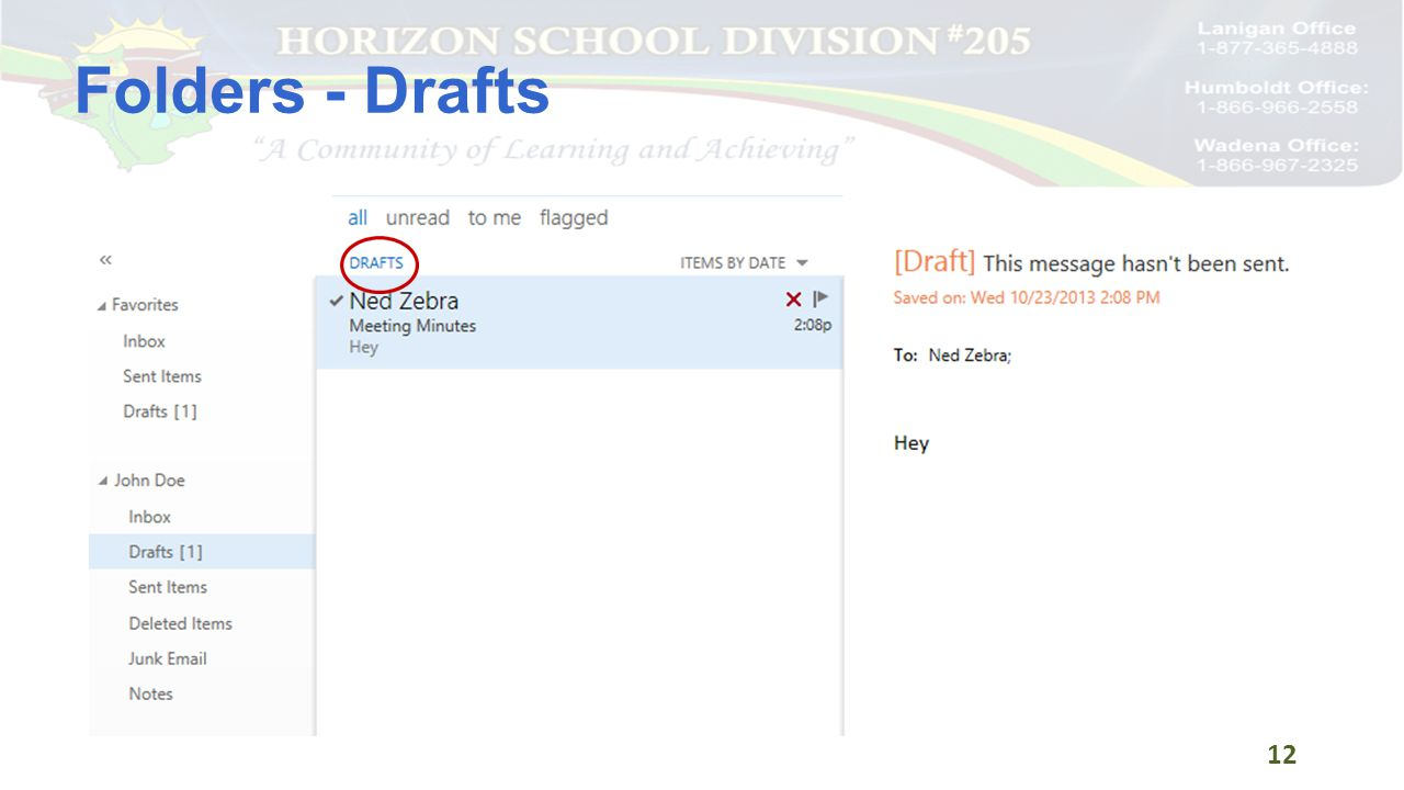 Folders - Drafts 12
