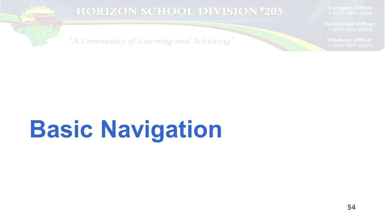 Basic Navigation 54