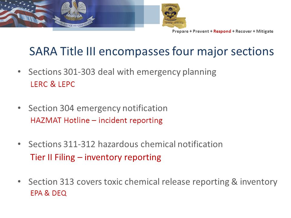 Prepare + Prevent + Respond + Recover + Mitigate Two Types of Notification Incident reporting Inventory reporting