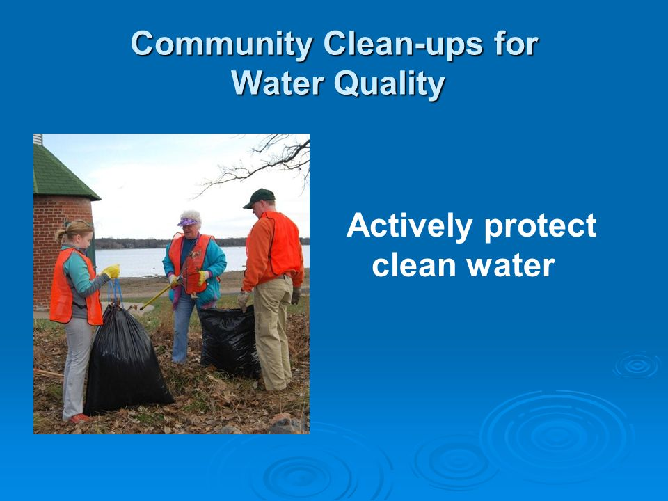 Community Clean-ups for Water Quality Actively protect clean water