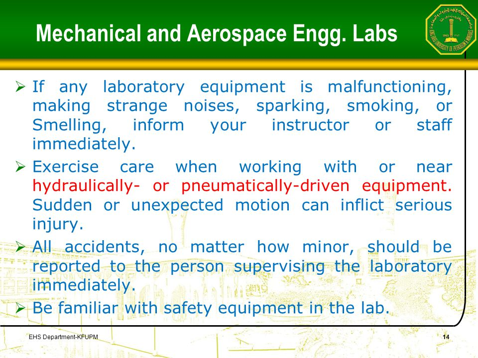 Mechanical and Aerospace Engg.