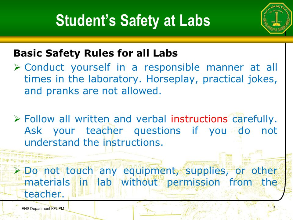 Computer Labs  You are not allowed to repair, open, tamper or interfere with any of the computer, printing, cabling, air conditioning or other equipment in the laboratory.