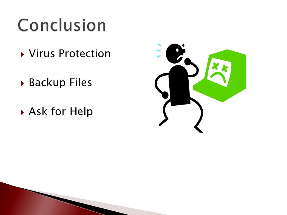  Virus Protection  Backup Files  Ask for Help