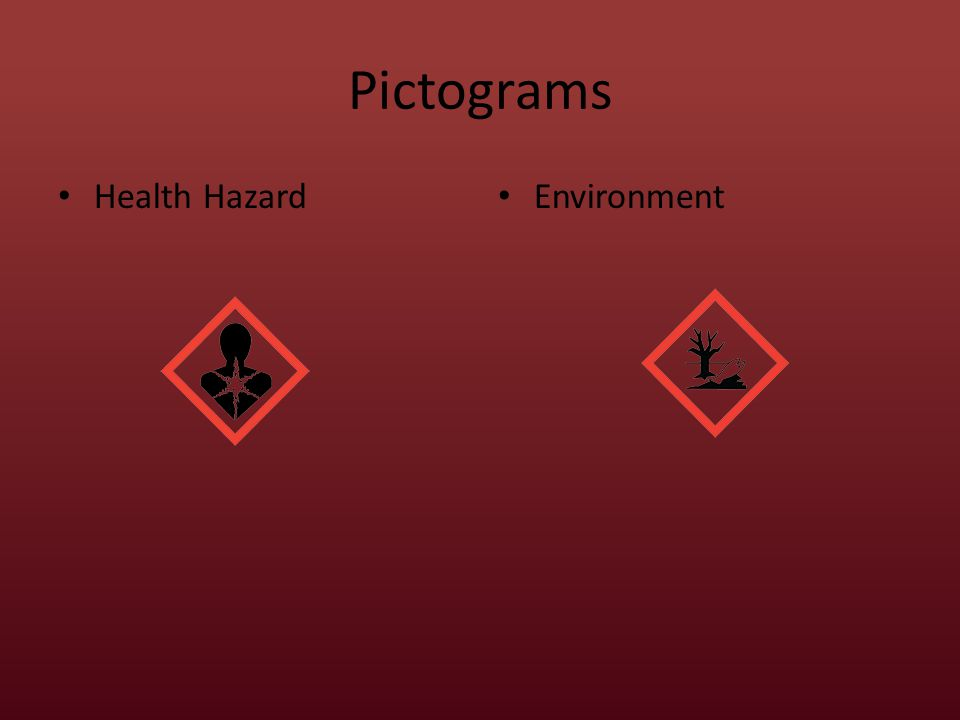 Pictograms Health Hazard Environment