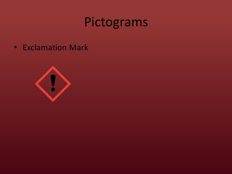 Pictograms Exclamation Mark