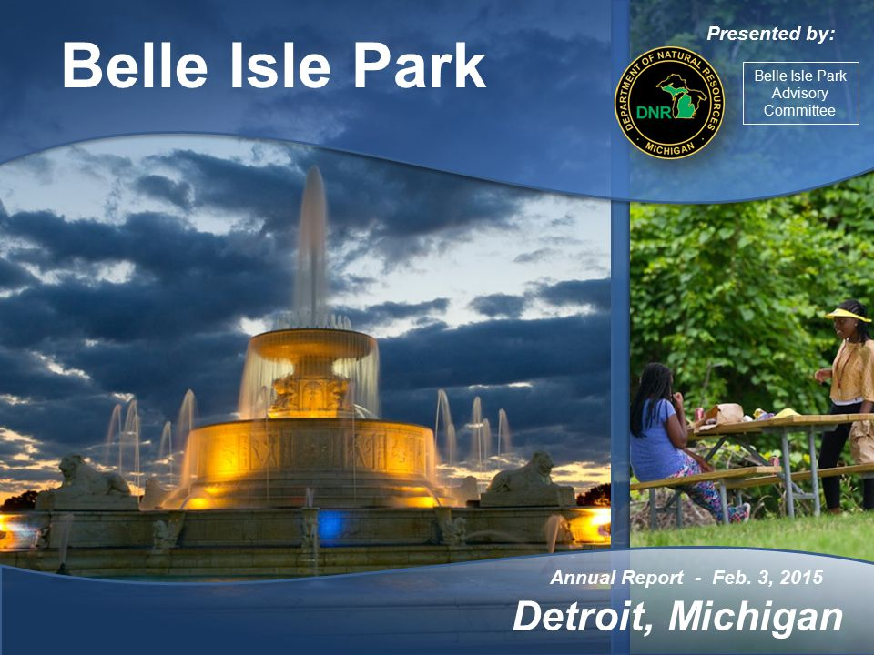Belle Isle Park Island Visitor Attendance 541,112 vehicles June 1, 2014 to Dec.