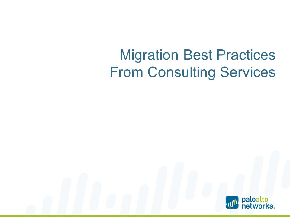 Migration Best Practices From Consulting Services