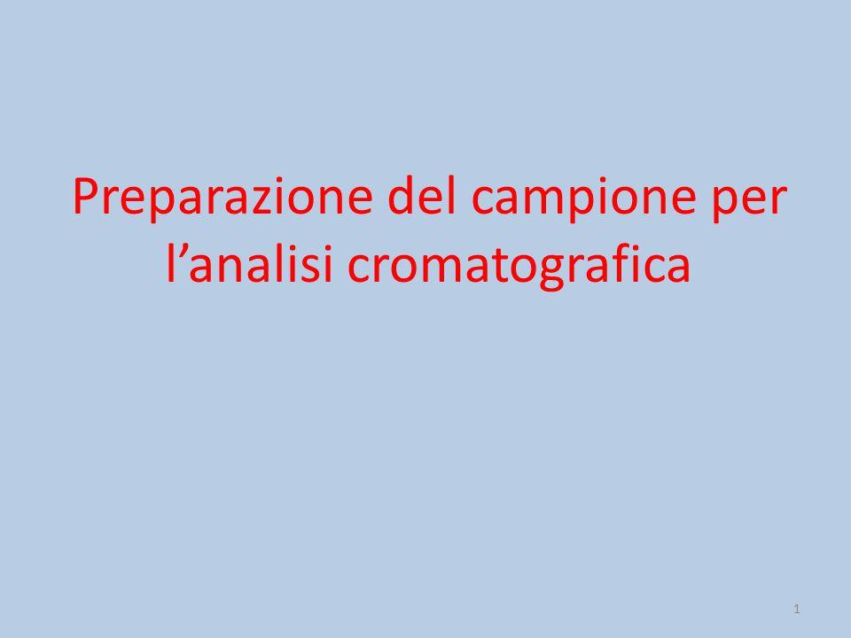 1 Preparazione del campione per l'analisi cromatografica
