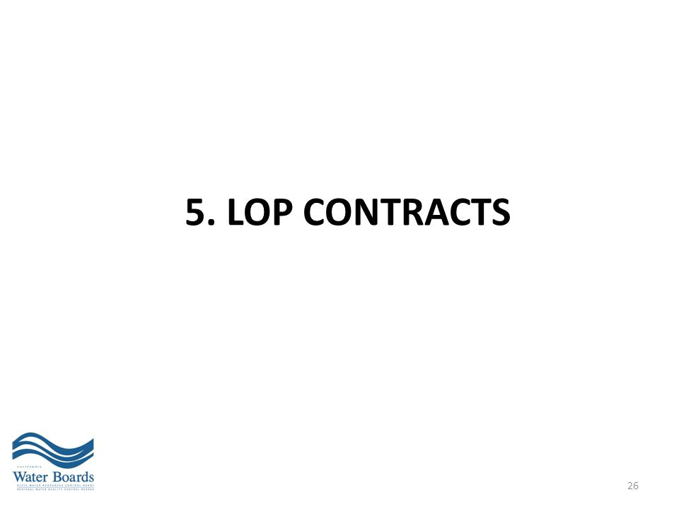 5. LOP CONTRACTS 26