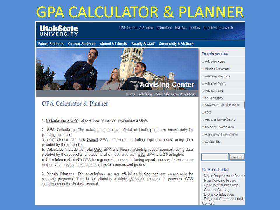 GPA CALCULATOR & PLANNER