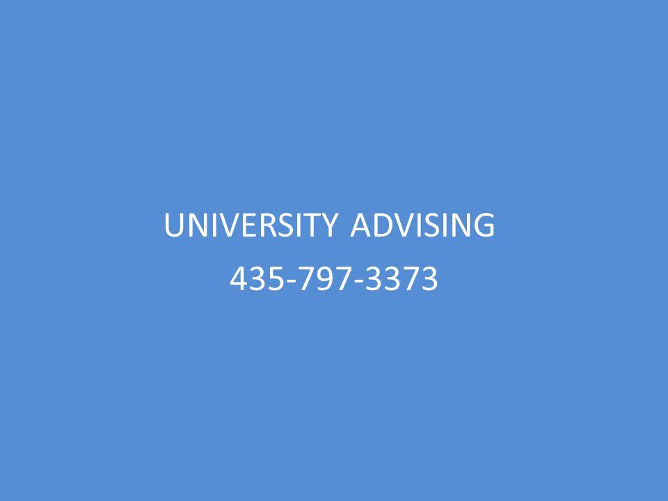 UNIVERSITY ADVISING 435-797-3373