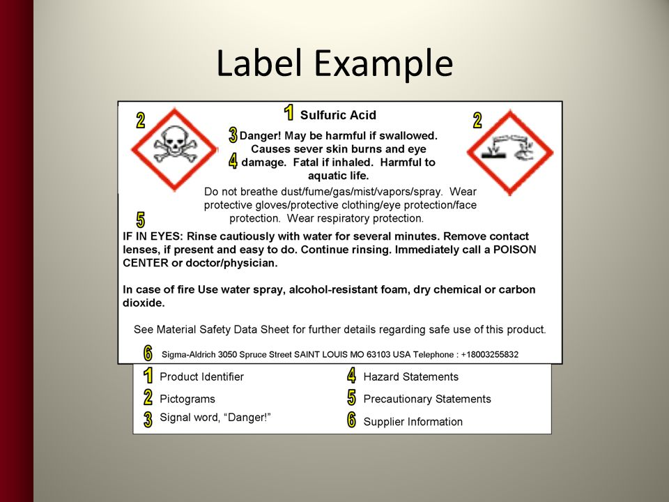 Label Example