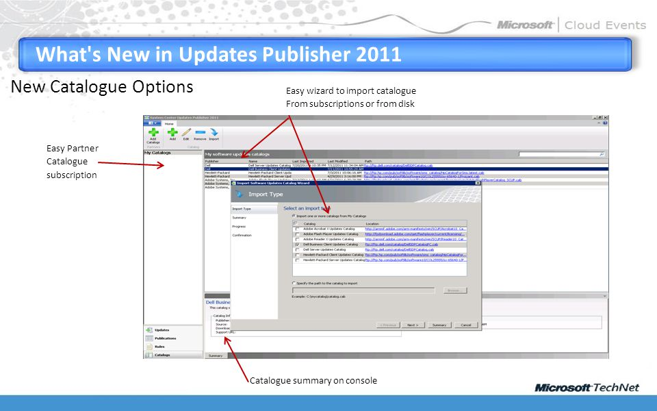 What s New in Updates Publisher 2011 Easy Partner Catalogue subscription Easy wizard to import catalogue From subscriptions or from disk Catalogue summary on console New Catalogue Options