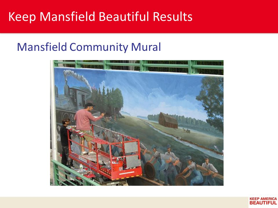 Keep Mansfield Beautiful Results Mansfield Community Mural