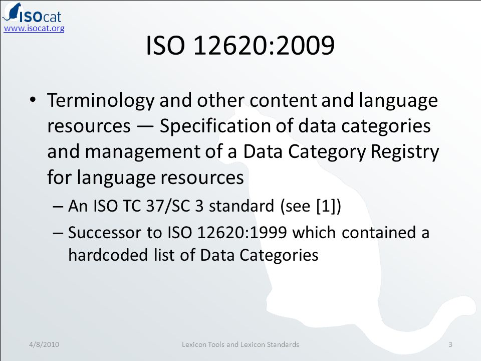 www.isocat.org What is a Data Category.