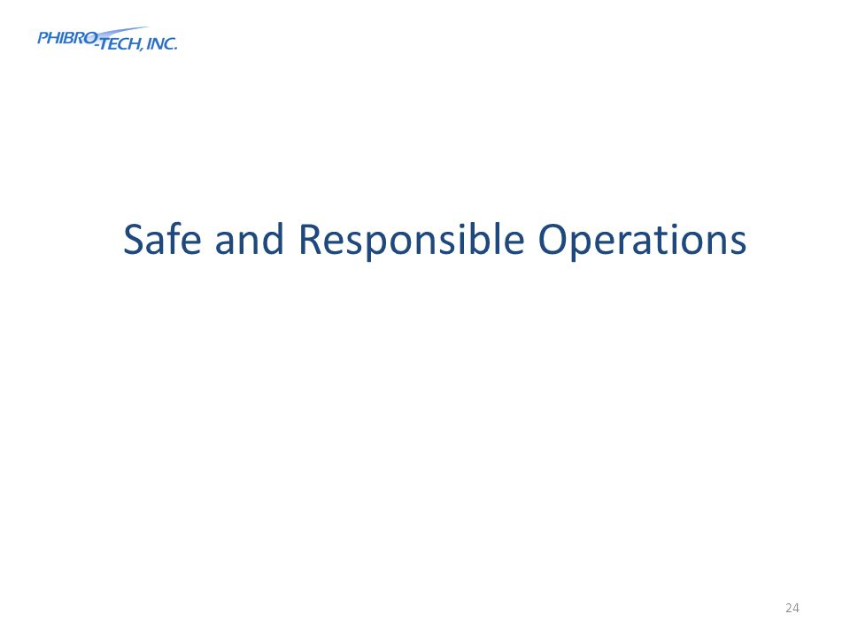 Safe and Responsible Operations 24