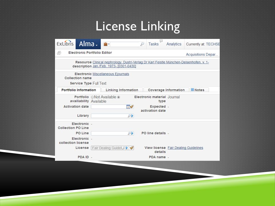 License Linking