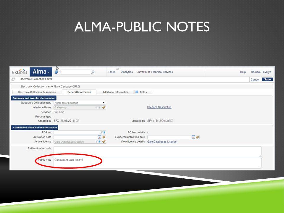 ALMA-PUBLIC NOTES