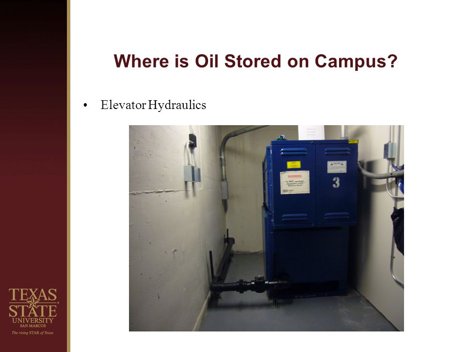 Where is Oil Stored on Campus Elevator Hydraulics