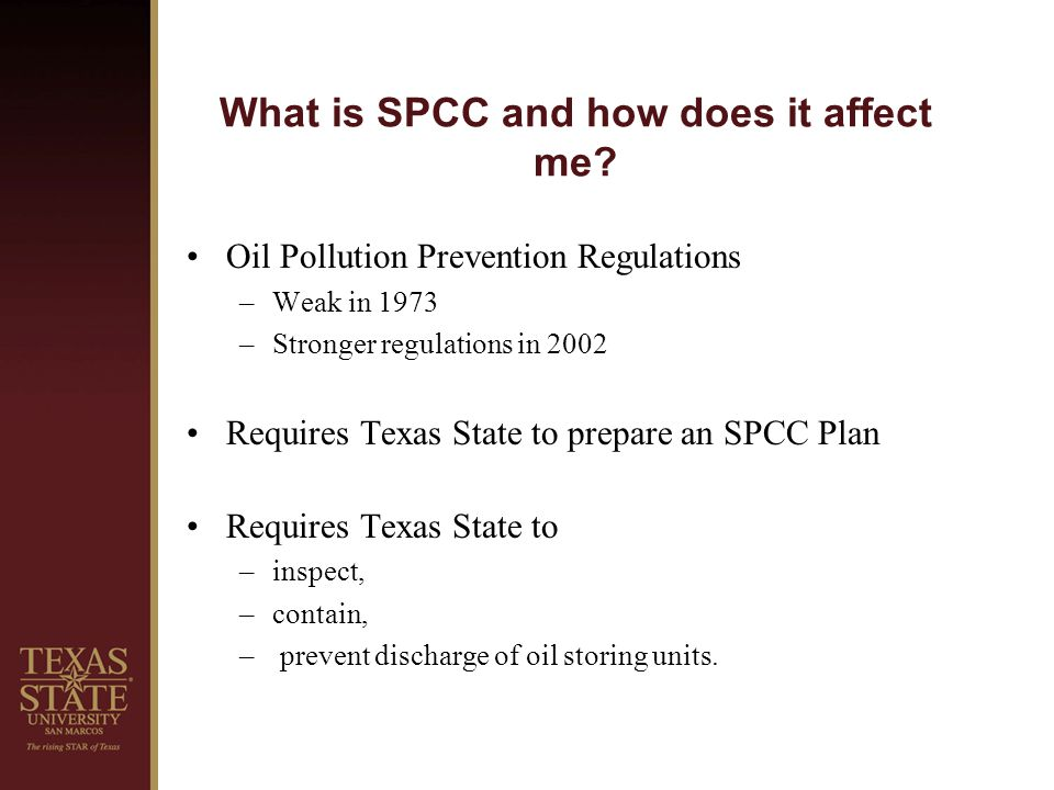 What is SPCC and how does it affect me.