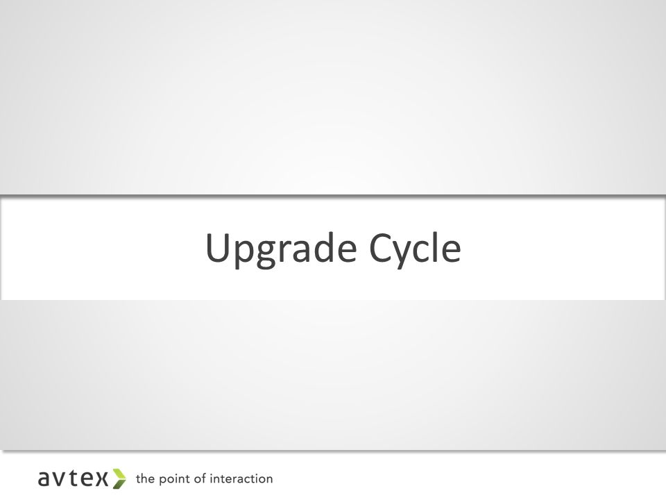 Upgrade Cycle
