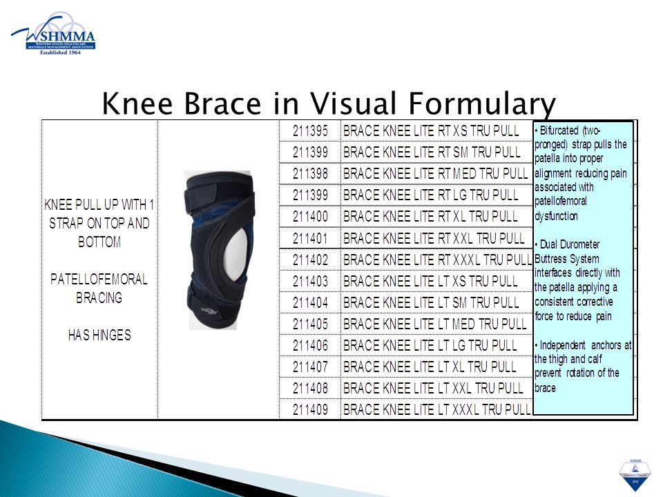 Knee Brace in Visual Formulary