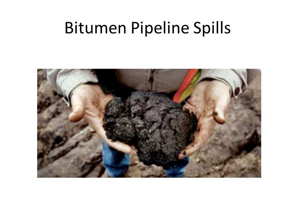 Bitumen Pipeline Spills