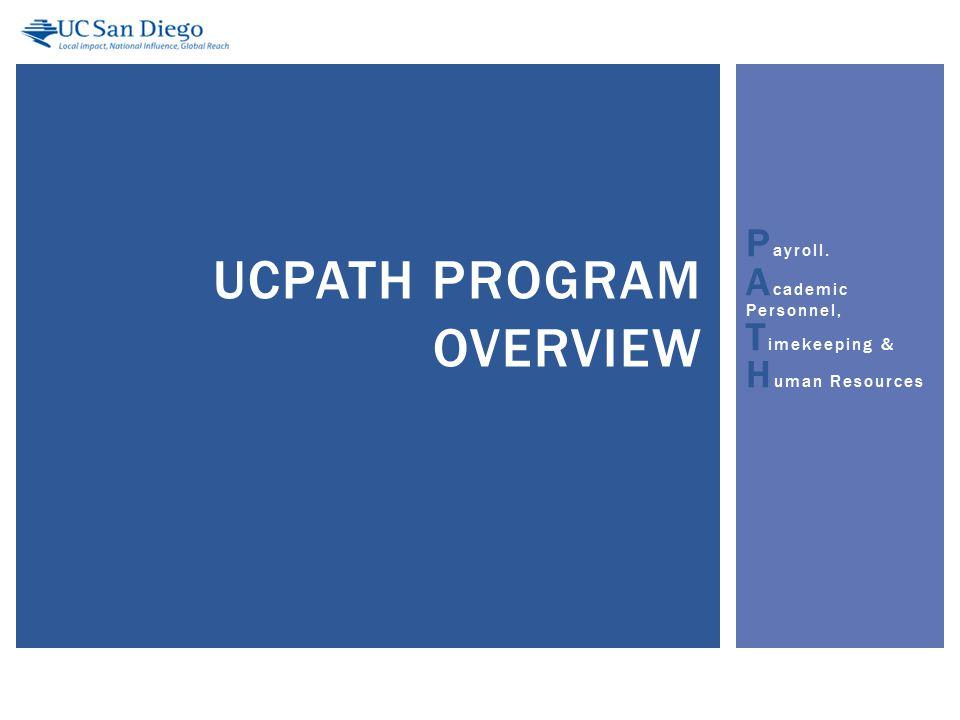 Big Picture and Current Focus 12 PROGRAM DESCRIPTION