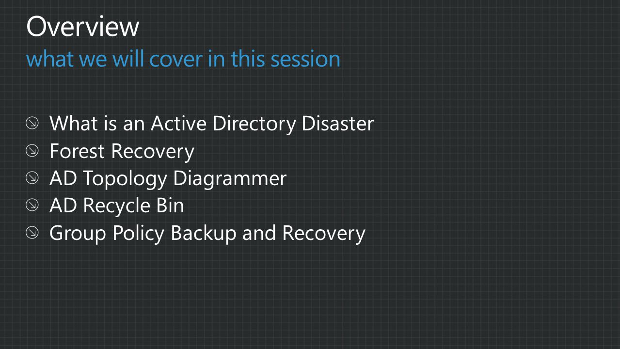 Active Directory – Why is it important and what to document in a disaster recovery plan