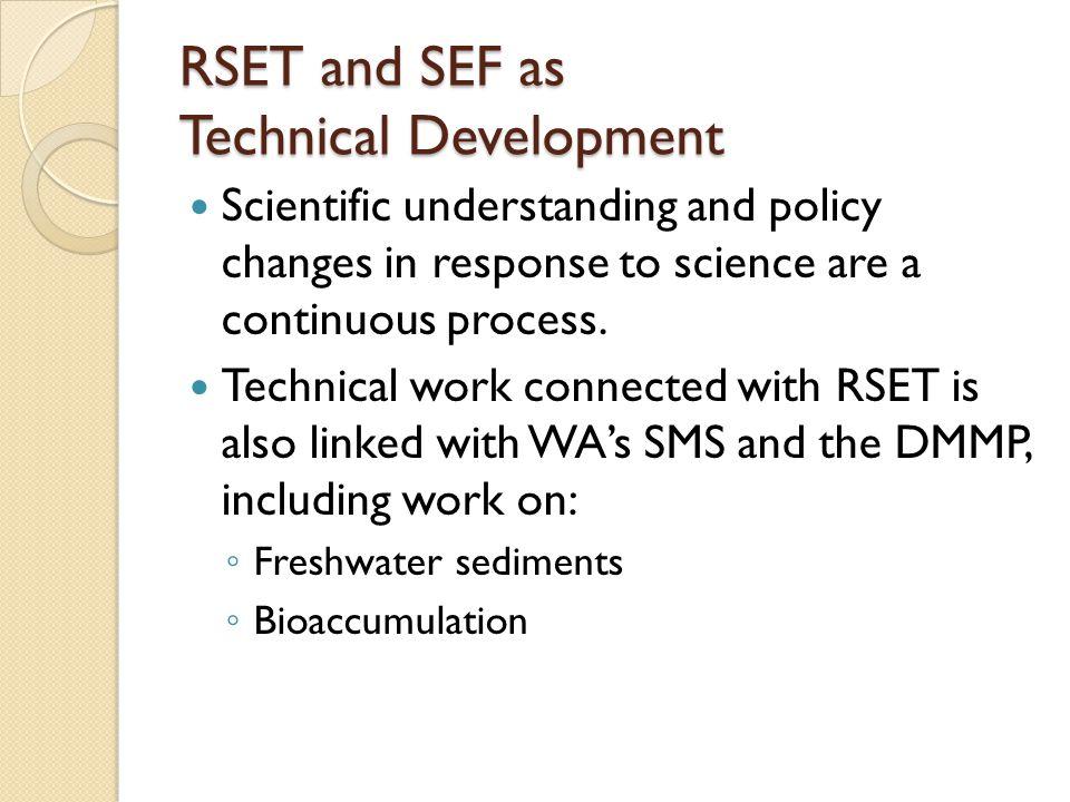 Public Process RSET/SEF DMMP/SMARM SMS/MTCA Rule Updates