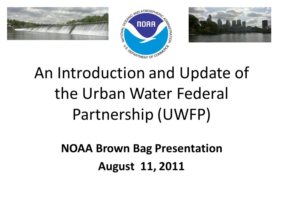 Urban Waters Initiative – Baltimore Pilot NOAA Activities NOAA has a variety of programs in line with the vision of the Urban Waters Initiative, including those that assess and aid the cleanup of hazardous waste sites, oil spills, and marine debris; implement ecological restoration; address the impacts of climate change; and build coastal community resiliency.