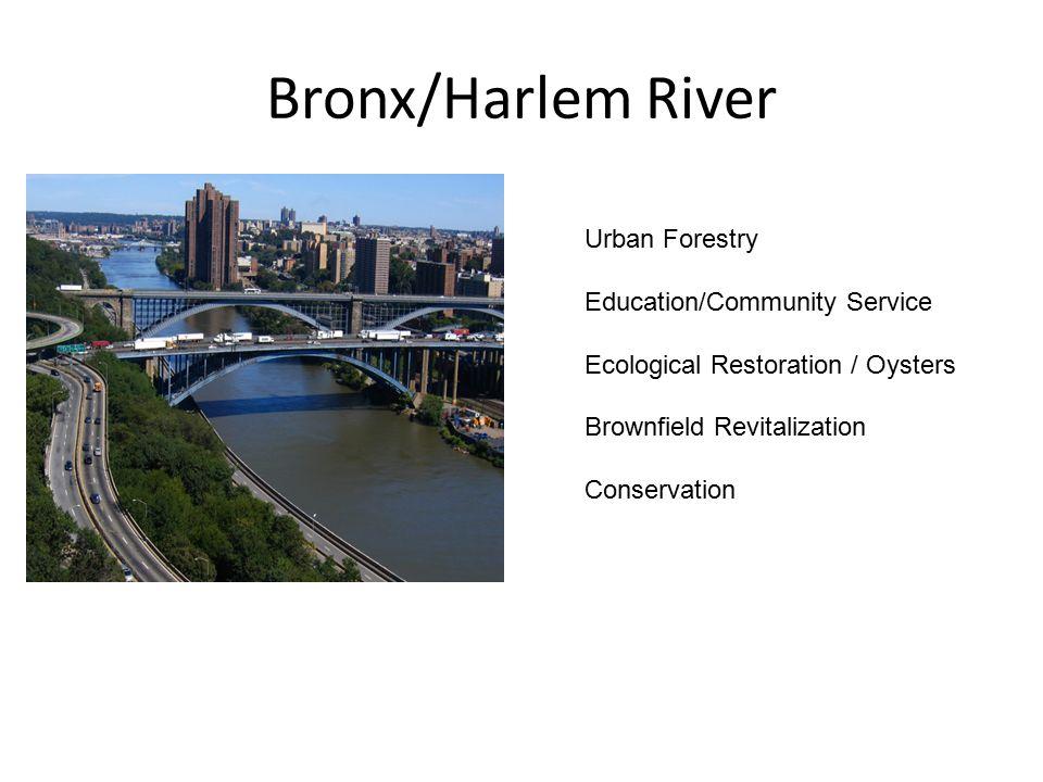 Bronx/Harlem River Urban Forestry Education/Community Service Ecological Restoration / Oysters Brownfield Revitalization Conservation