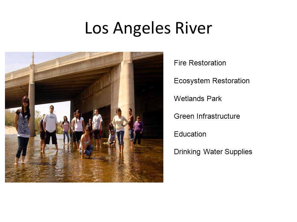 Los Angeles River Fire Restoration Ecosystem Restoration Wetlands Park Green Infrastructure Education Drinking Water Supplies