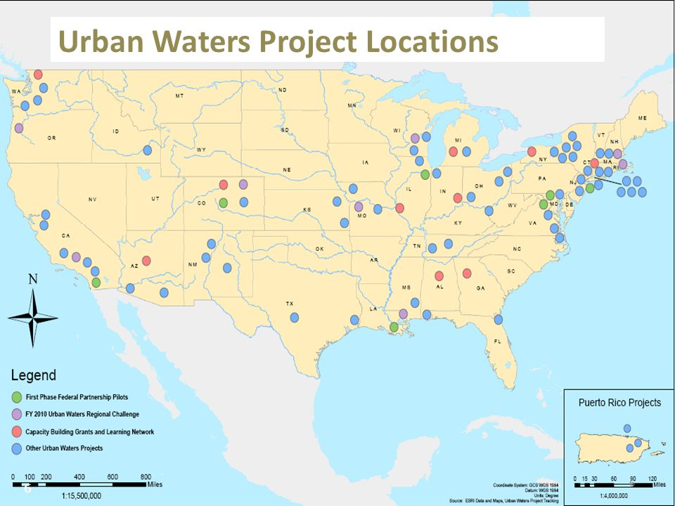 6 Urban Waters Project Locations 6