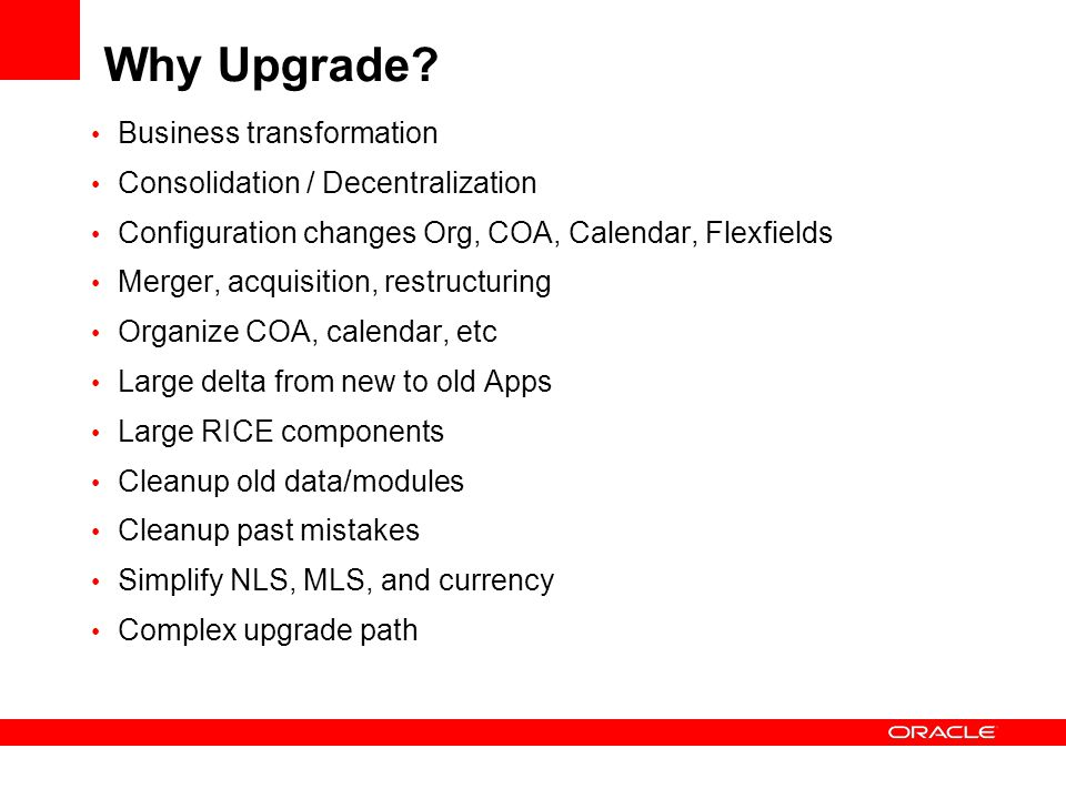 Why Upgrade.