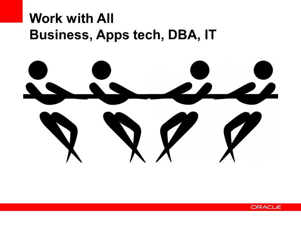 Work with All Business, Apps tech, DBA, IT
