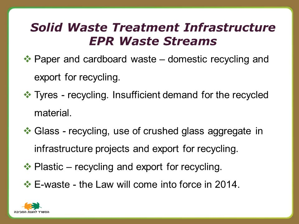  Paper and cardboard waste – domestic recycling and export for recycling.