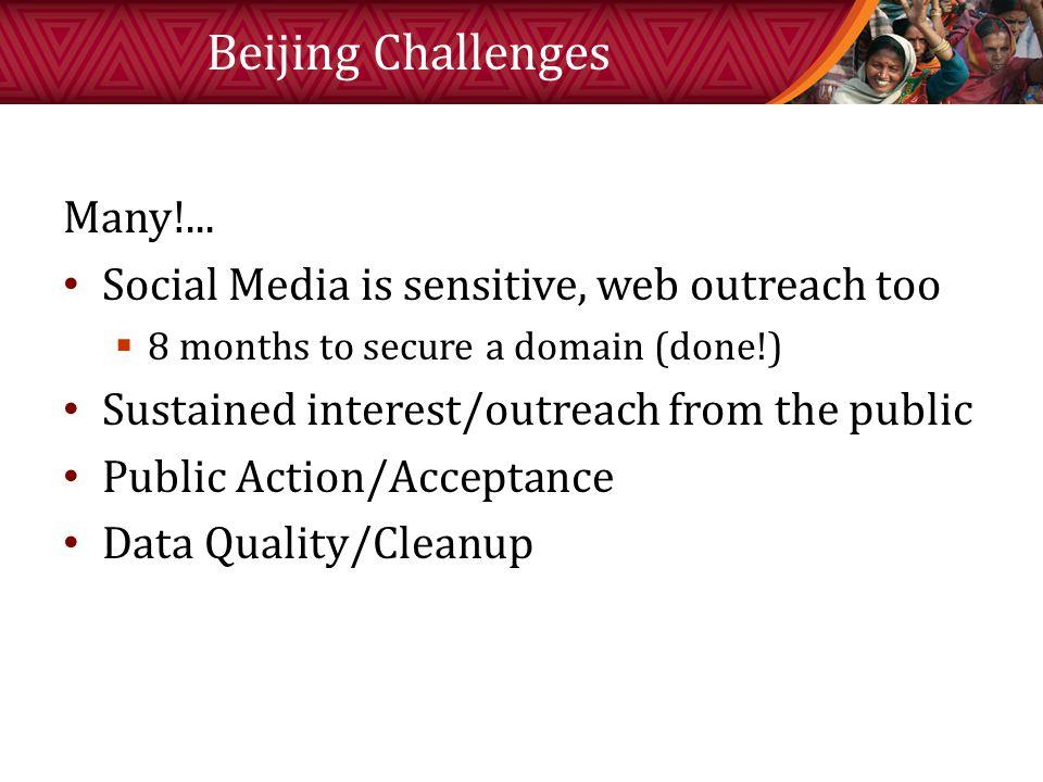 Beijing Challenges Many!...