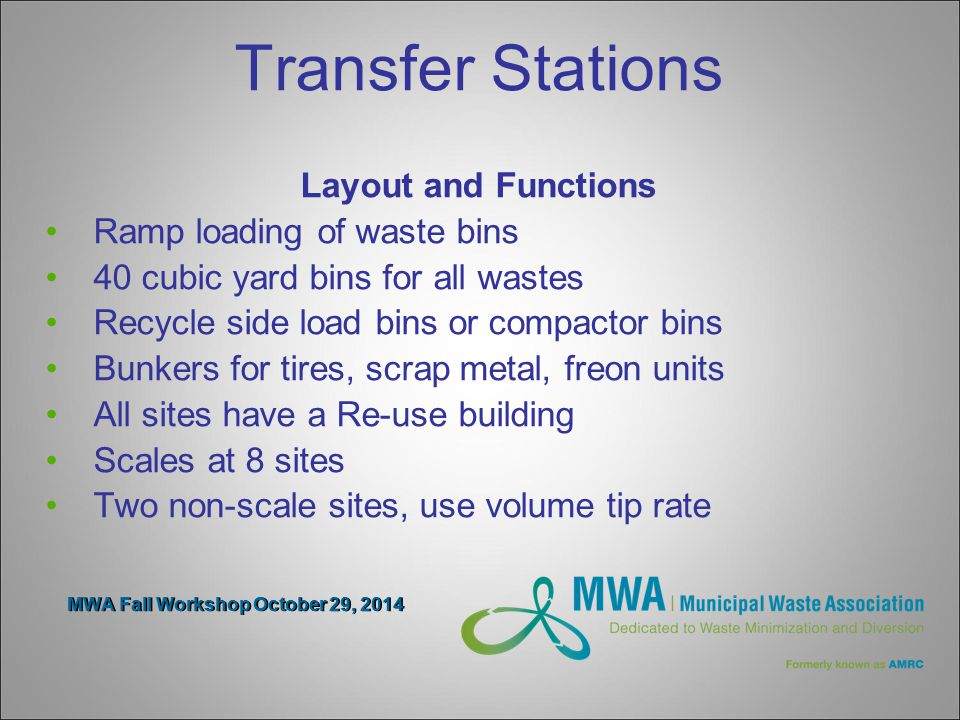 MWA Fall Workshop October 29, 2014 Bin Sites The plan