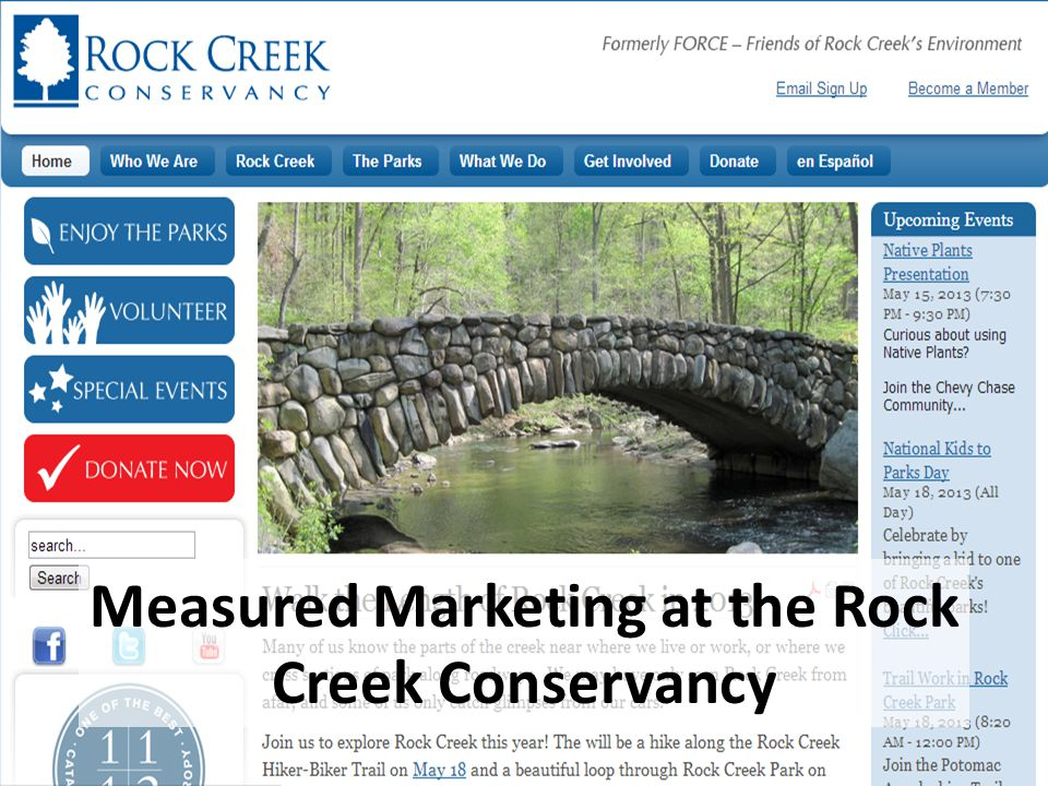 Measured Marketing at the Rock Creek Conservancy
