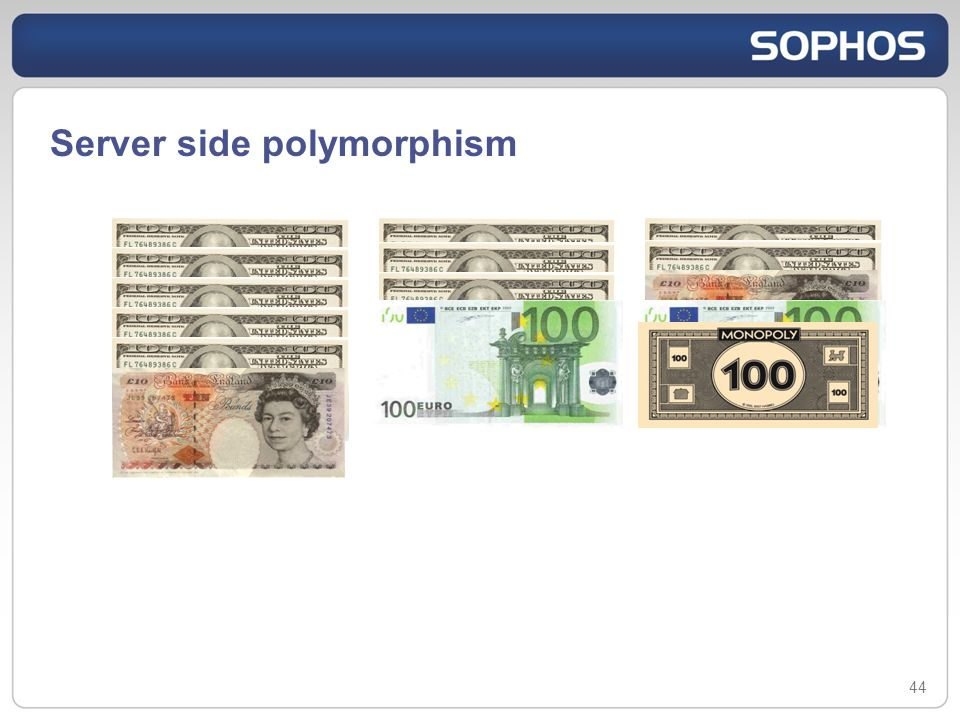 Server side polymorphism 44