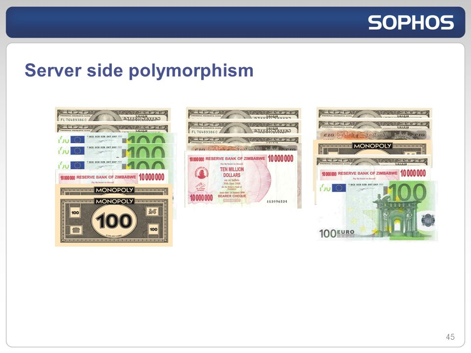 Server side polymorphism 45