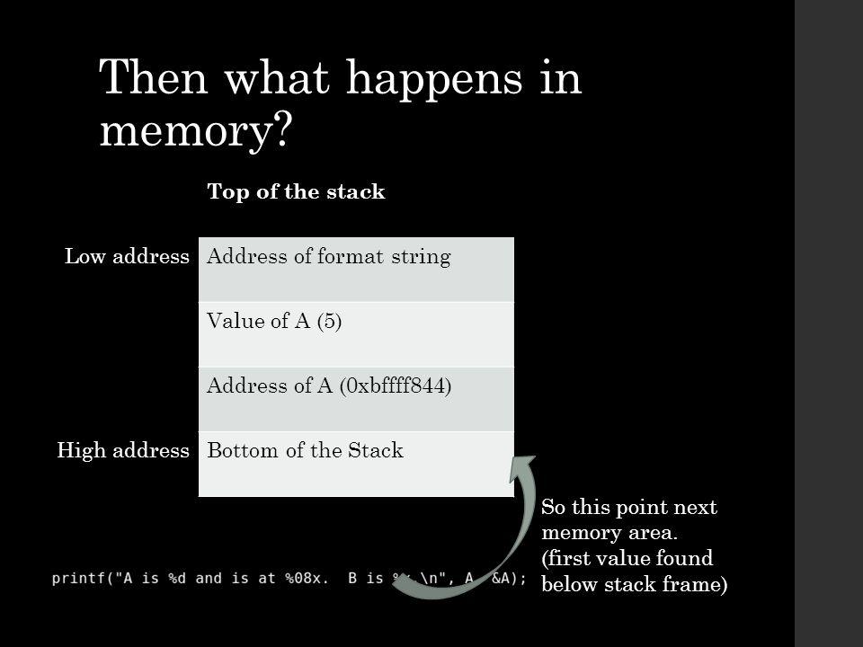 Reading from Arbitrary Memory Addresses
